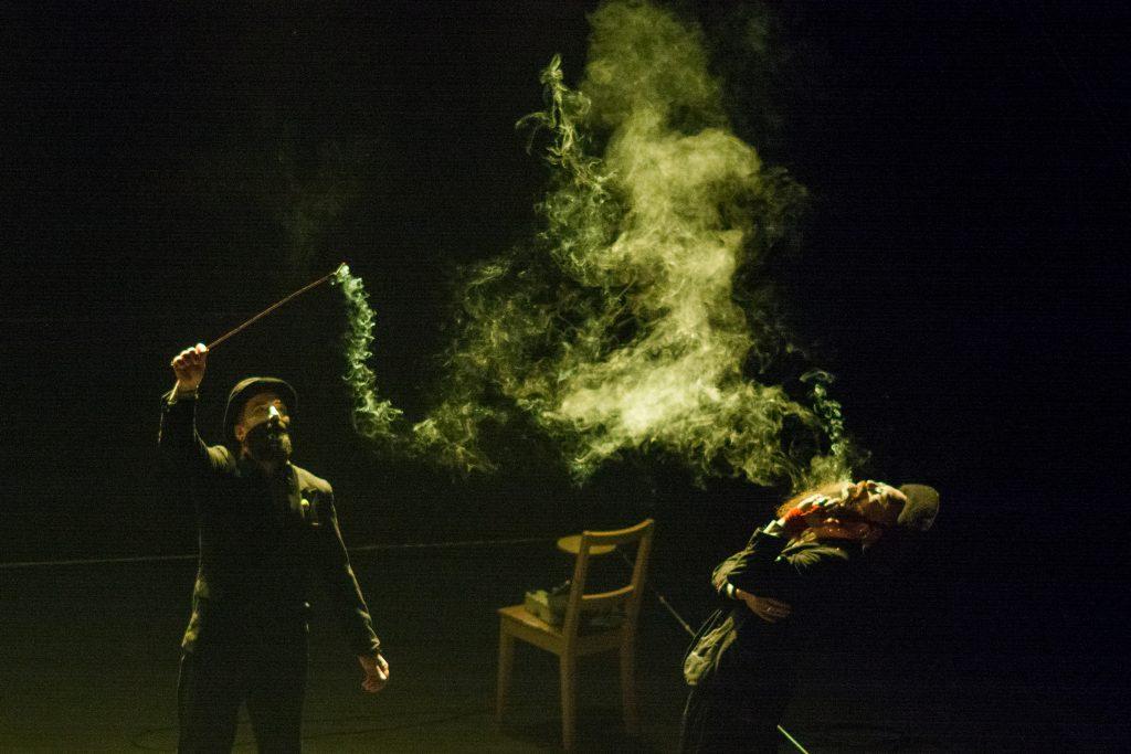 Performer and smoke